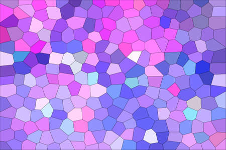 Abstract Blue & Pink Shades Modern Mosaic Tiles Material Texture Background