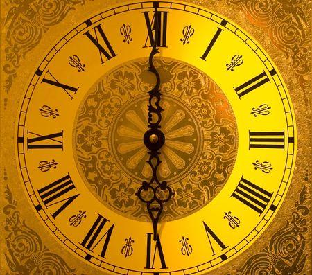 reloj antiguo: Cara de reloj de abuelo antigua