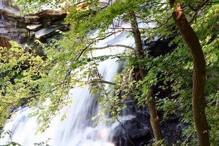 Closeup of Brandywine Falls, Ohio