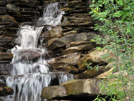 Waterfall offset with greenery