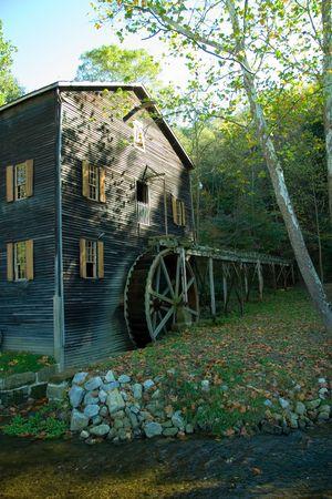 grist: Amish di lavoro Grist Mill  Archivio Fotografico