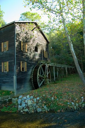 Working Amish Grist Mill photo