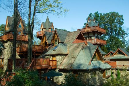 Stone and wood mountain chalet Stock Photo - 370479