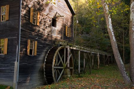grist mill: Old Amish Grist Mill Stock Photo