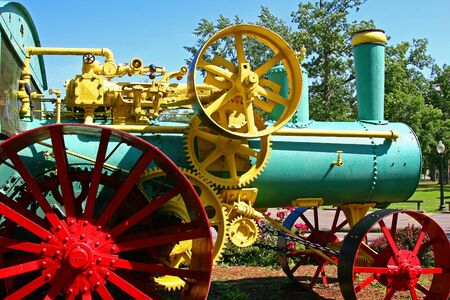 Old steam-fired tractor Stock Photo - 450492