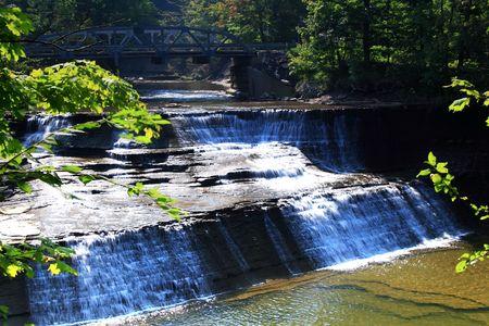 Paine Falls under a bridge photo