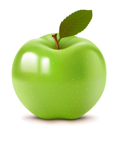 Big green apple Illustration