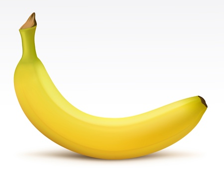 banana: Bright yellow banana Illustration