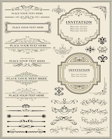 calligraphique: Vector illustration d'�l�ments calligraphiques et de la d�coration la page