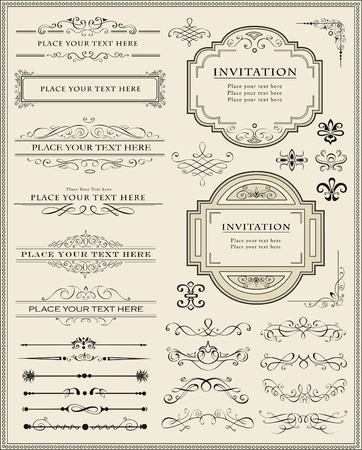 Vector illustration of calligraphic elements and page decoration Stock Vector - 11557307