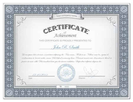 diploma: Ilustraci�n vectorial de cerificate detallada