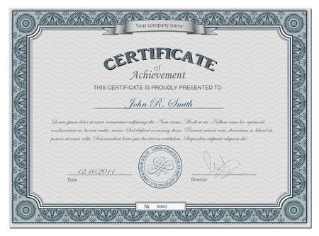 certificat diplome: Vector illustration de cerificate d�taill�e