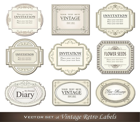 tradition art: Vector illustration of vintage retro labels Illustration
