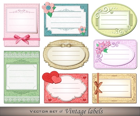 Vector illustration of vintage labels Stock Vector - 11557339