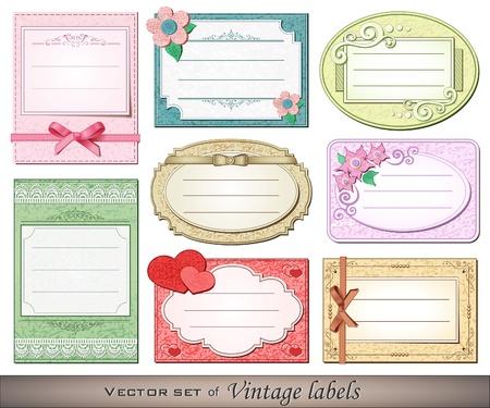 Vector illustration of vintage labels Illustration