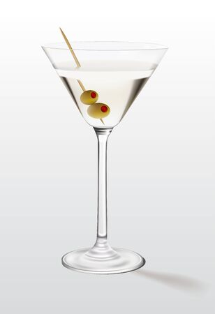 booze: Martini with olives