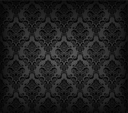 Vector illustartion of black seamless wallpaper pattern Vector