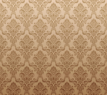 brown wallpaper: Vector illustration of brown seamless wallpaper pattern