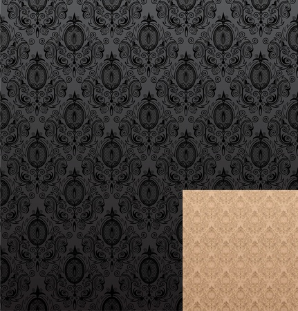 Vector illustration of seamless wallpaper patterns Vector