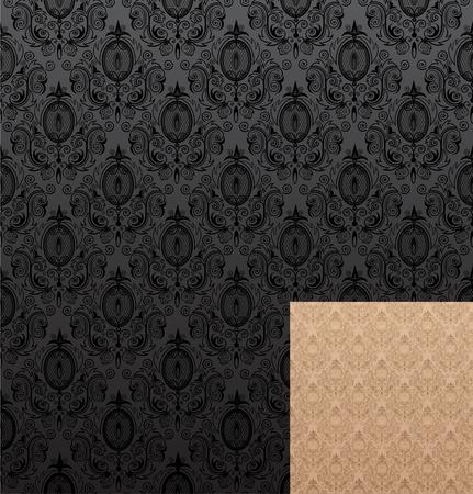 Vector illustration of seamless wallpaper patterns Çizim