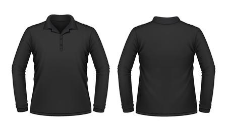 �rmel: Schwarzes Langarm Shirt M�nner