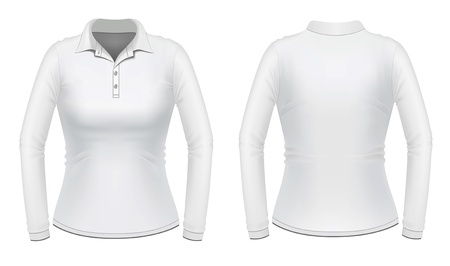 sleeves: White long sleeve female shirt