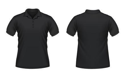 camisa: Ilustraci�n vectorial de los hombres negro Vectores