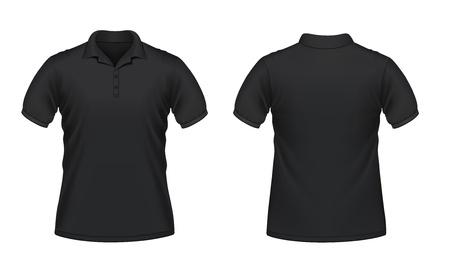 polo t shirt: Vector illustration of black men Illustration