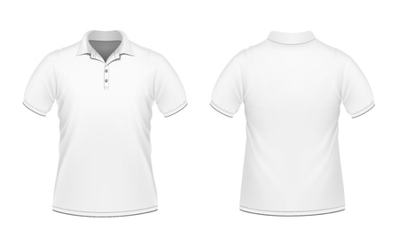 polo t shirt: Vector illustration of white men