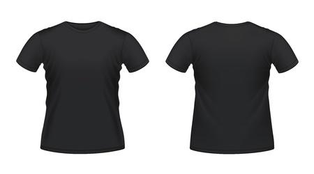 blank t shirt: Vector illustration of black men Illustration