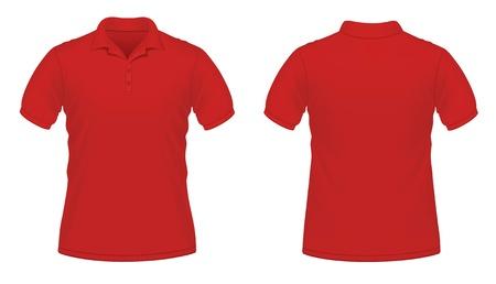 ポロ: 赤、男性のベクトル イラスト  イラスト・ベクター素材