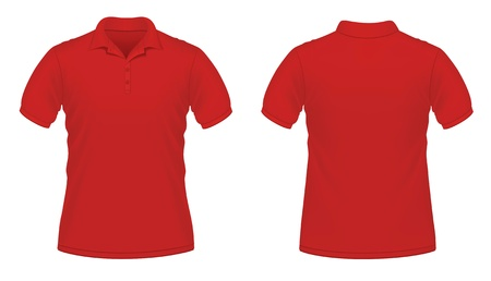 polo t shirt: Vector illustration of red men