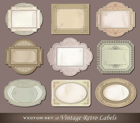 Vector illustration of vintage retro labels Stock Vector - 12411232
