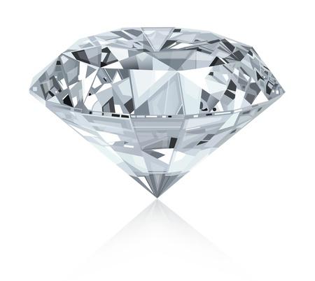Klassieke en realistische diamant Stock Illustratie