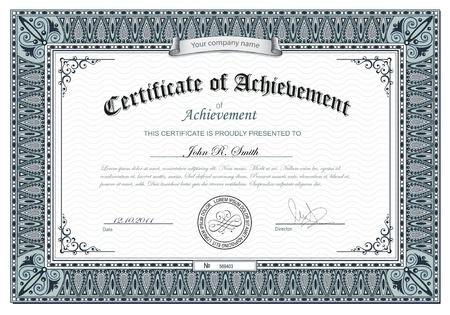 certificat diplome: illustration de certificat d�taill� Illustration