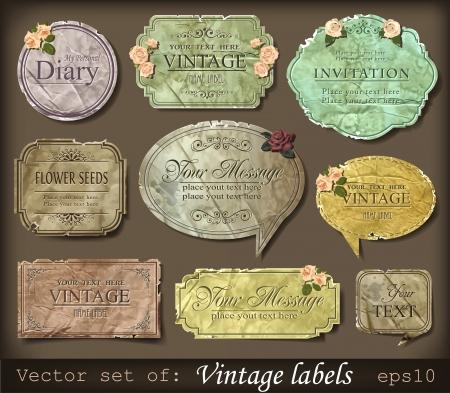 illustration of vintage retro labels Stock Vector - 13746414