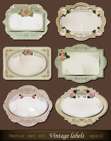 nostalgic: illustration of vintage retro labels Illustration
