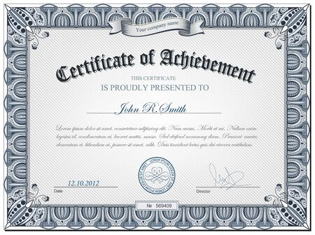 certificate seal: illustration of detailed certificate