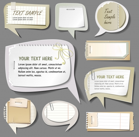 adhesive tape: illustration of retro paper bubbles speech