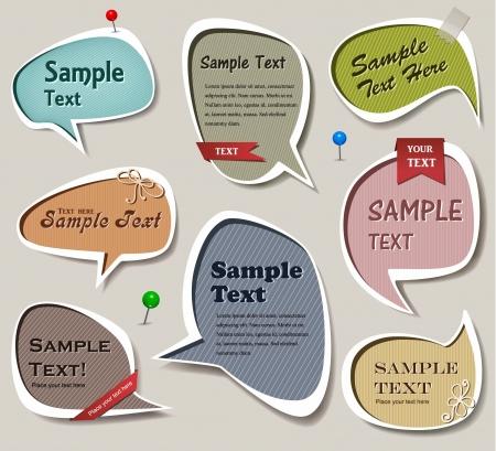 memory card: set of multicolored bubbles Illustration