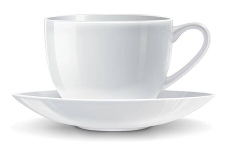 illustration of white cup