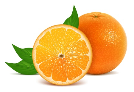 orange peel: illustration of fresh orange