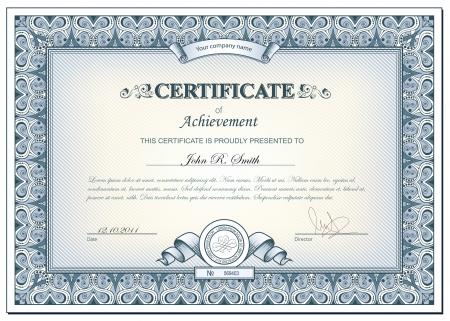 certificado: ilustraci�n detallada de cerificate Vectores