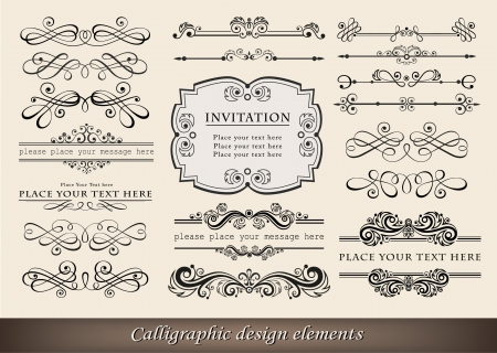 illustration of calligraphic elements and page decoration