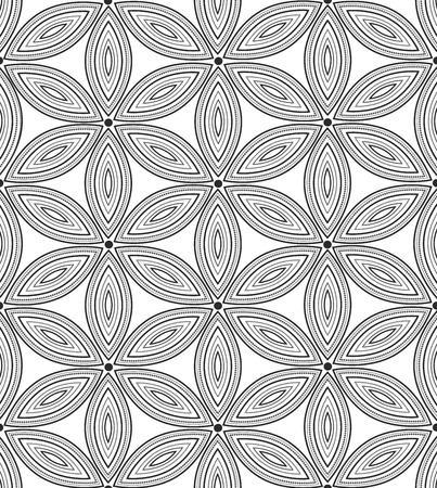 Vector seamless pattern. Repeating floral texture Illustration