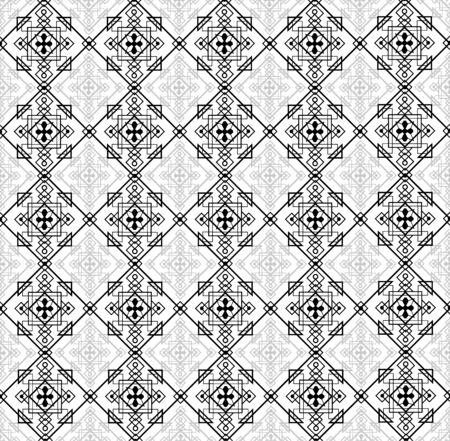 Vector illustratiom of abstract seamless pattern Illustration