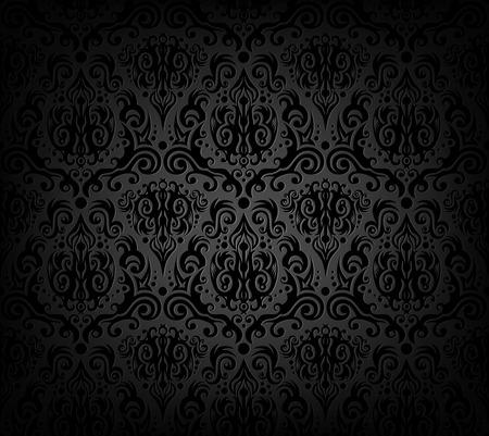 Vector illustration of black wallpaper pattern