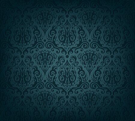 Vector illustration of dark blue wallpaper Illustration