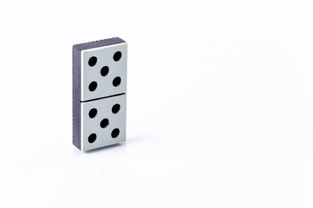 Domino isolated on white background photo
