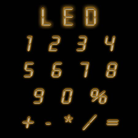 indicator board: Led numbers brown on a black background